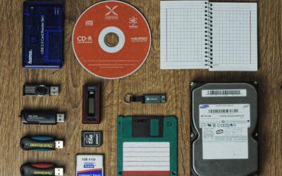 Teknologien for opbevaring af digitale data ændres i årenes løb